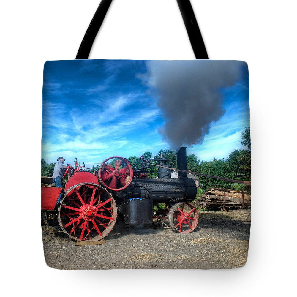 Arcadia Volunteer Fire Company Tote Bag featuring the photograph The Saw Powerplant by Mark Dodd