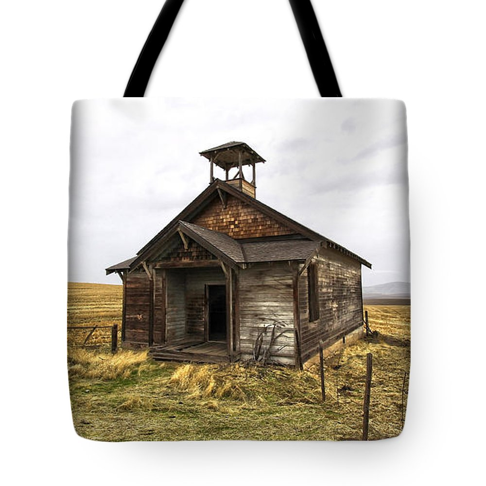 Old House Tote Bag featuring the photograph The School House by Steve McKinzie