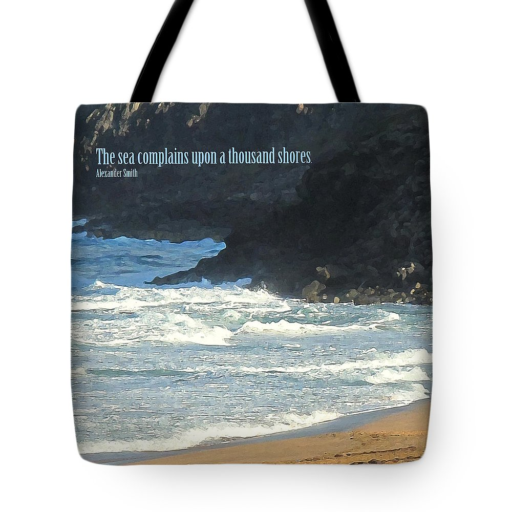 Sea Tote Bag featuring the photograph The Sea Complains by Ian MacDonald