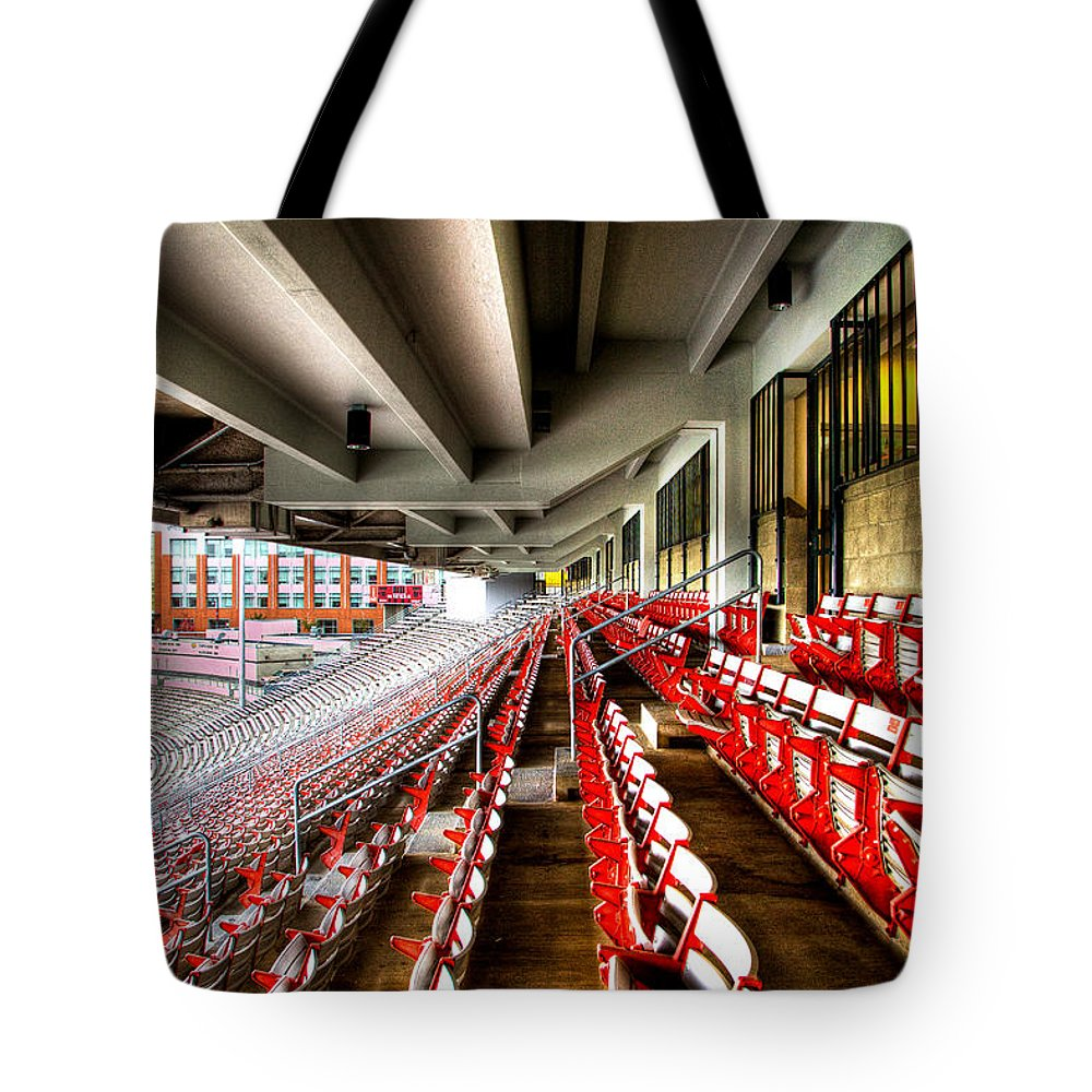Washington State University Tote Bag featuring the photograph The Seats At Martin Stadium by David Patterson