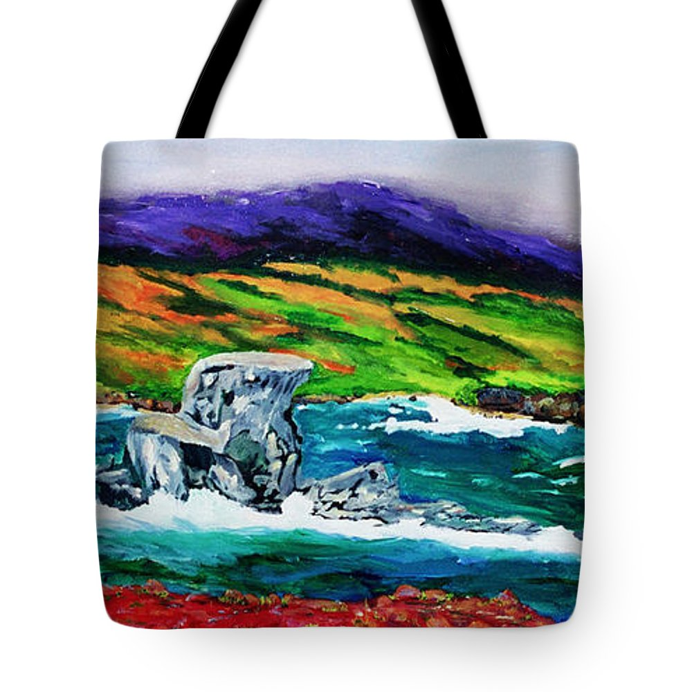 Seascape Tote Bag featuring the painting The Sentinel  by Gail Daley