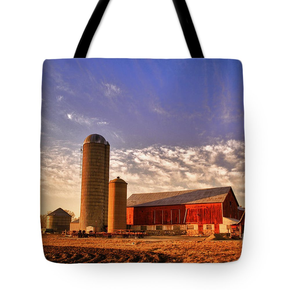 Barn Tote Bag featuring the photograph The Skittles Barn by Joel Witmeyer