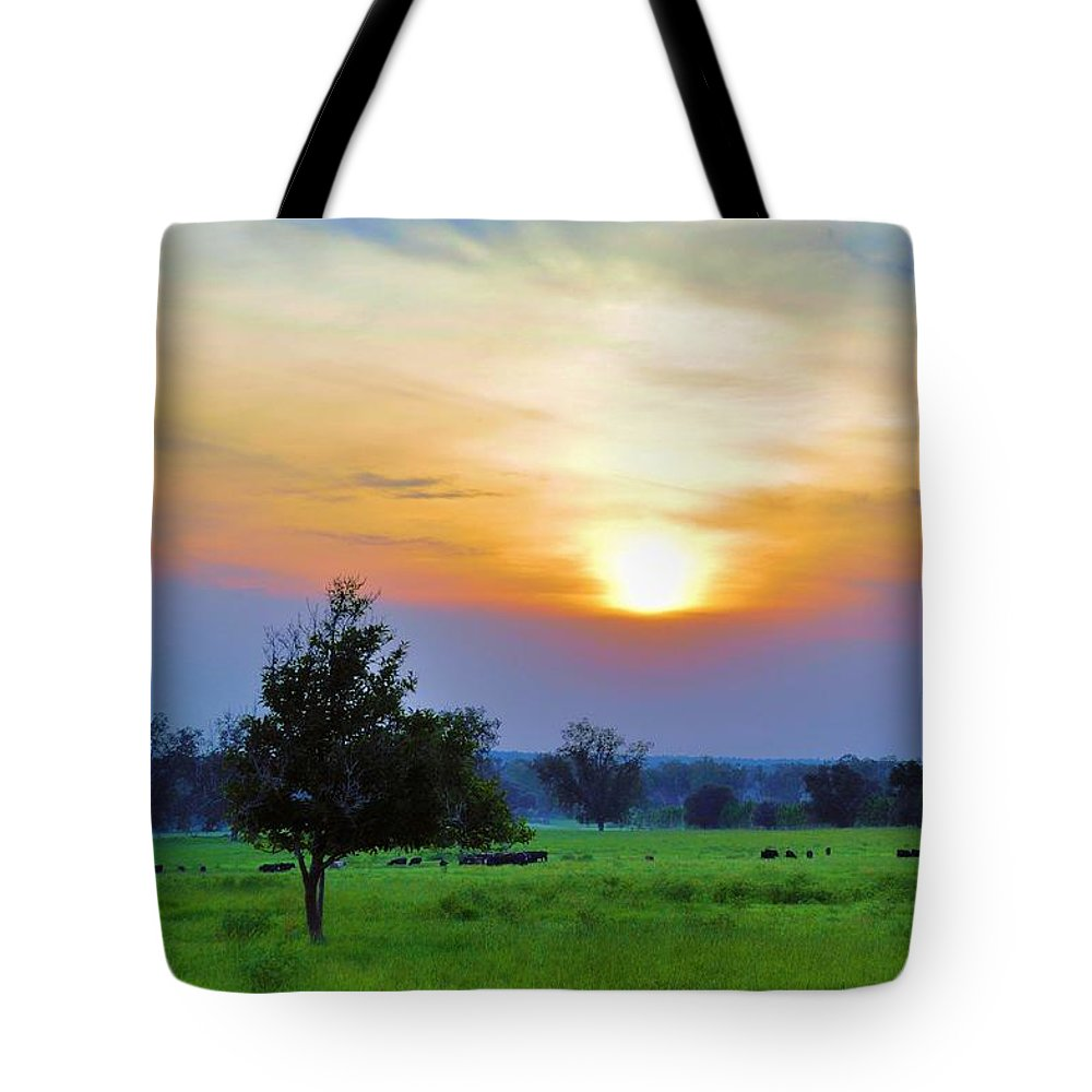 Landscapes Tote Bag featuring the photograph The Sky Was Drunk by Jan Amiss Photography