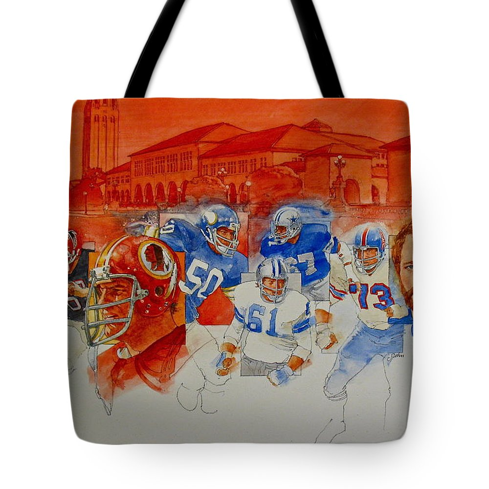 Acrylic Painting Tote Bag featuring the painting The Stanford Legacy 2 Of 3 by Cliff Spohn