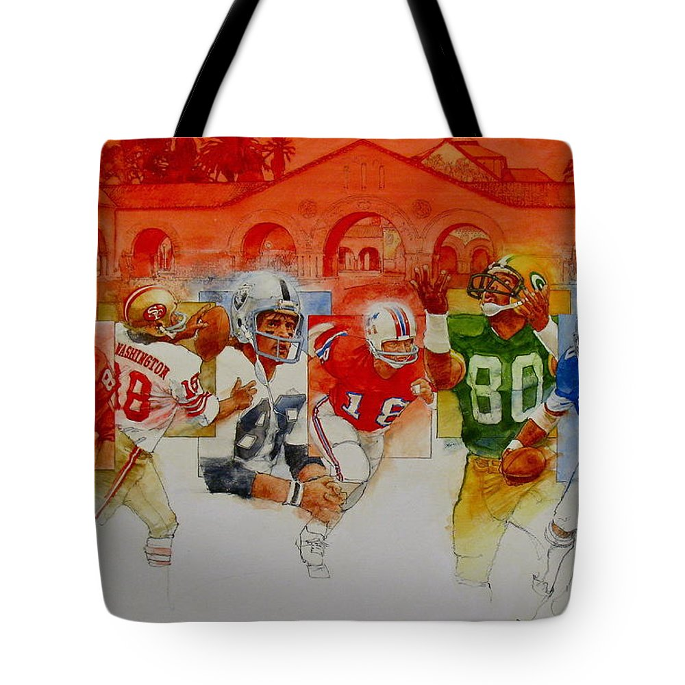 Acrylic Painting Tote Bag featuring the painting The Stanford Legacy 3 Of 3 by Cliff Spohn