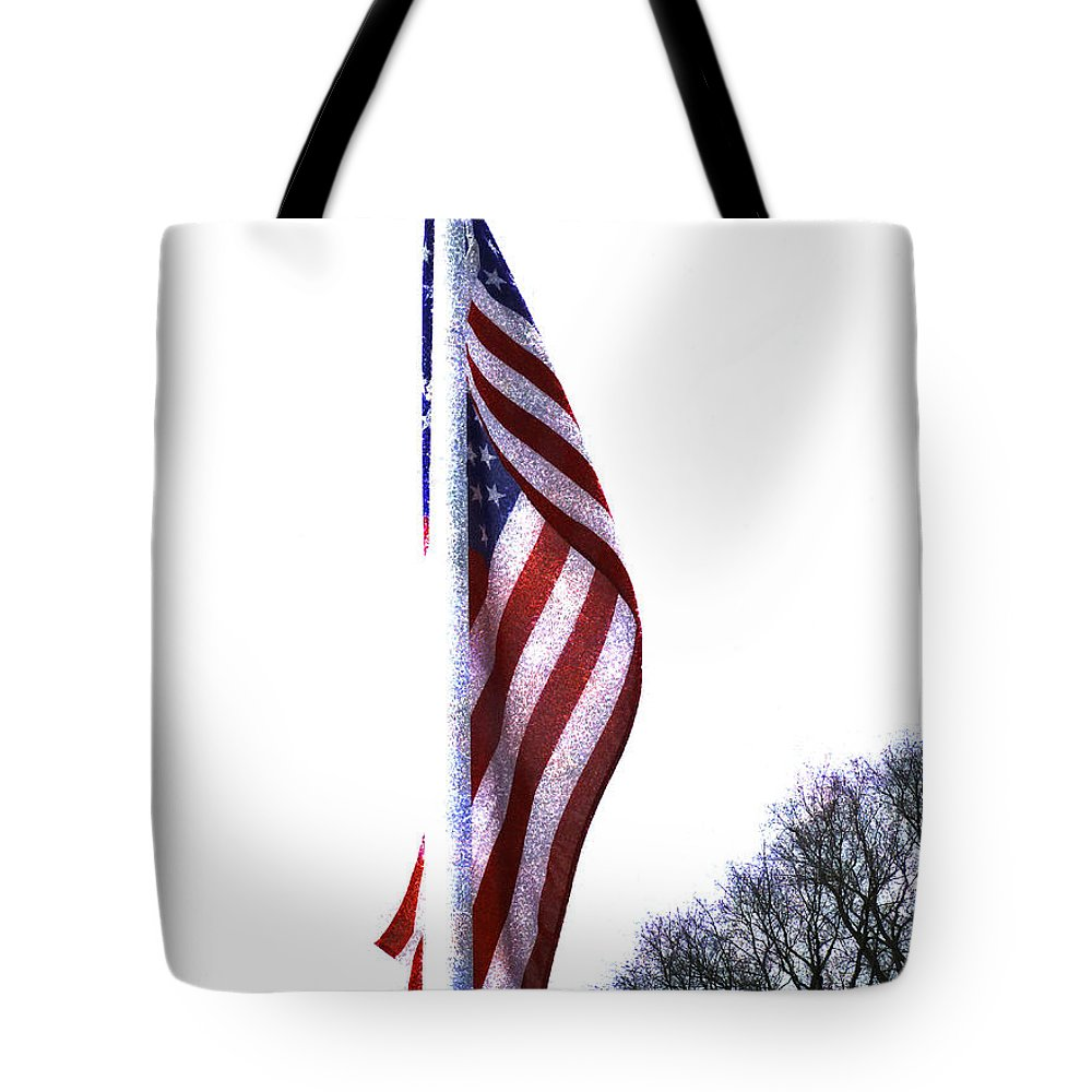 The Star Spangled Banner Tote Bag featuring the photograph The Star Spangled Banner by Steve Taylor