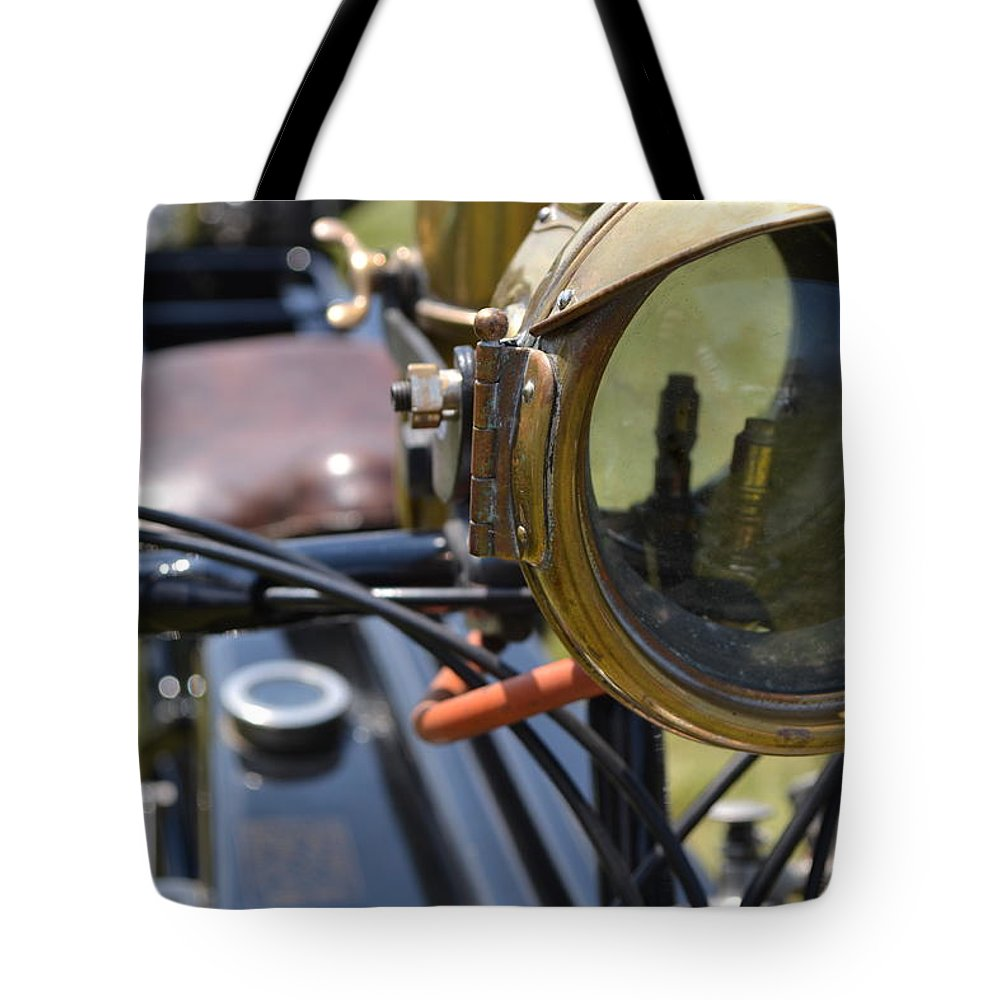 Motorcycles Tote Bag featuring the photograph The Sunbeam Ll by Michelle Calkins