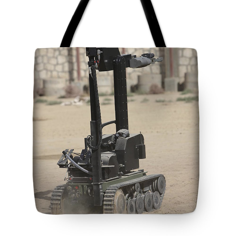 German Army Tote Bag featuring the photograph The Teodor Heavy-duty Bomb Disposal by Terry Moore