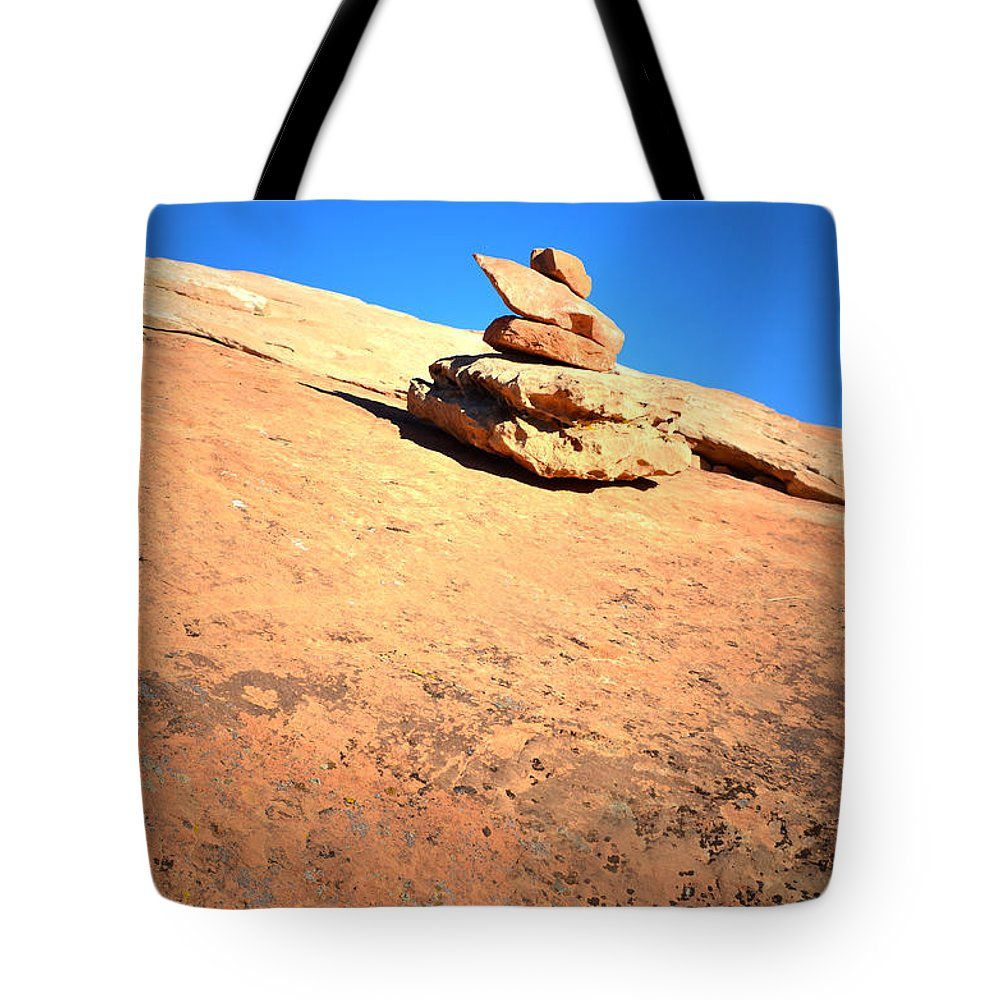 Trail Marker Tote Bag featuring the photograph The Trail Marker by Tara Turner