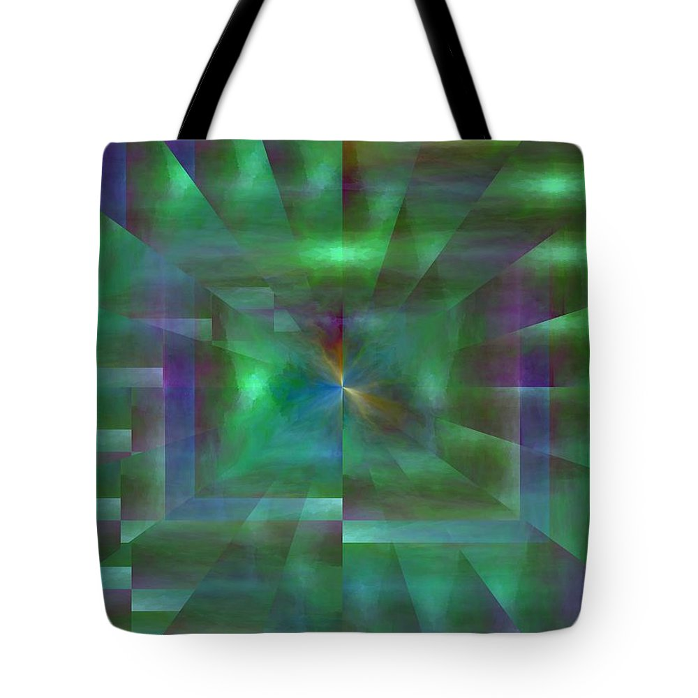 Abstract Tote Bag featuring the digital art The Visitation by Tim Allen
