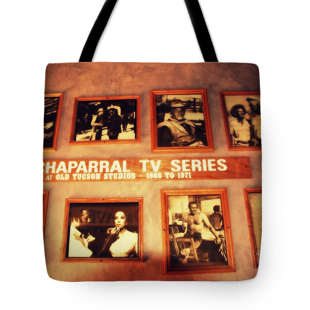 Old Tuscon Tote Bag featuring the photograph The Wall Of Fame In Old Tuscon Az by Susanne Van Hulst