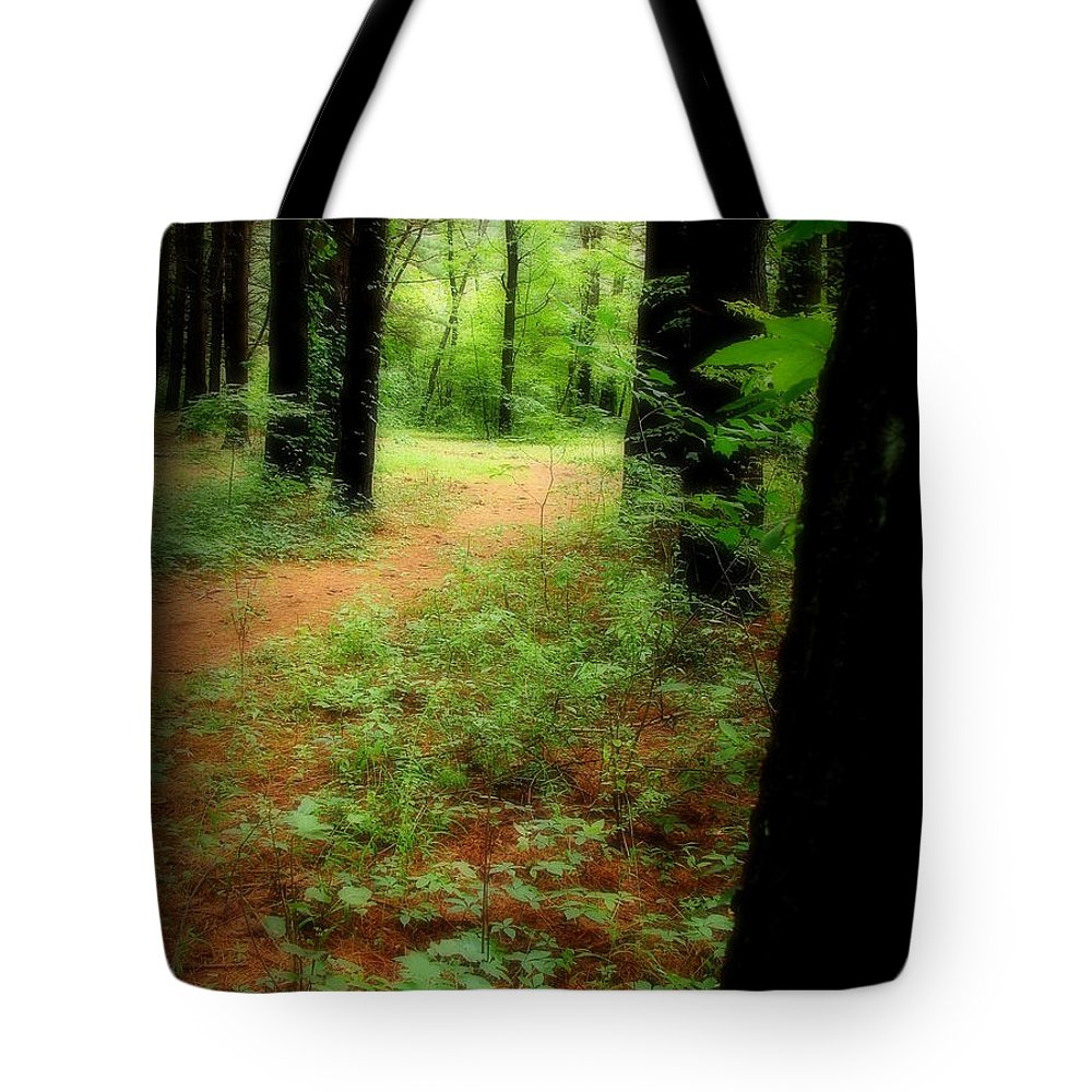 Forest Tote Bag featuring the photograph The Watcher by Priscilla Richardson