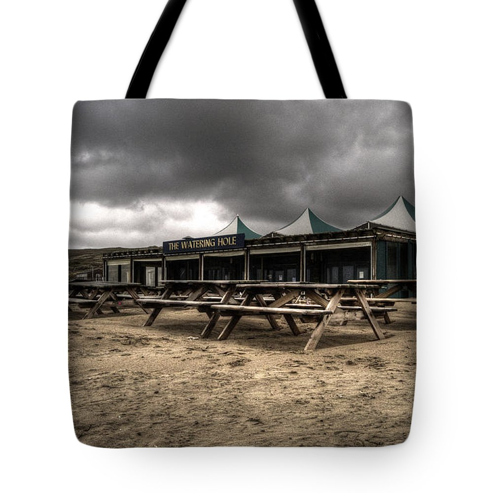 Pub Tote Bag featuring the photograph The Watering Hole by Rob Hawkins