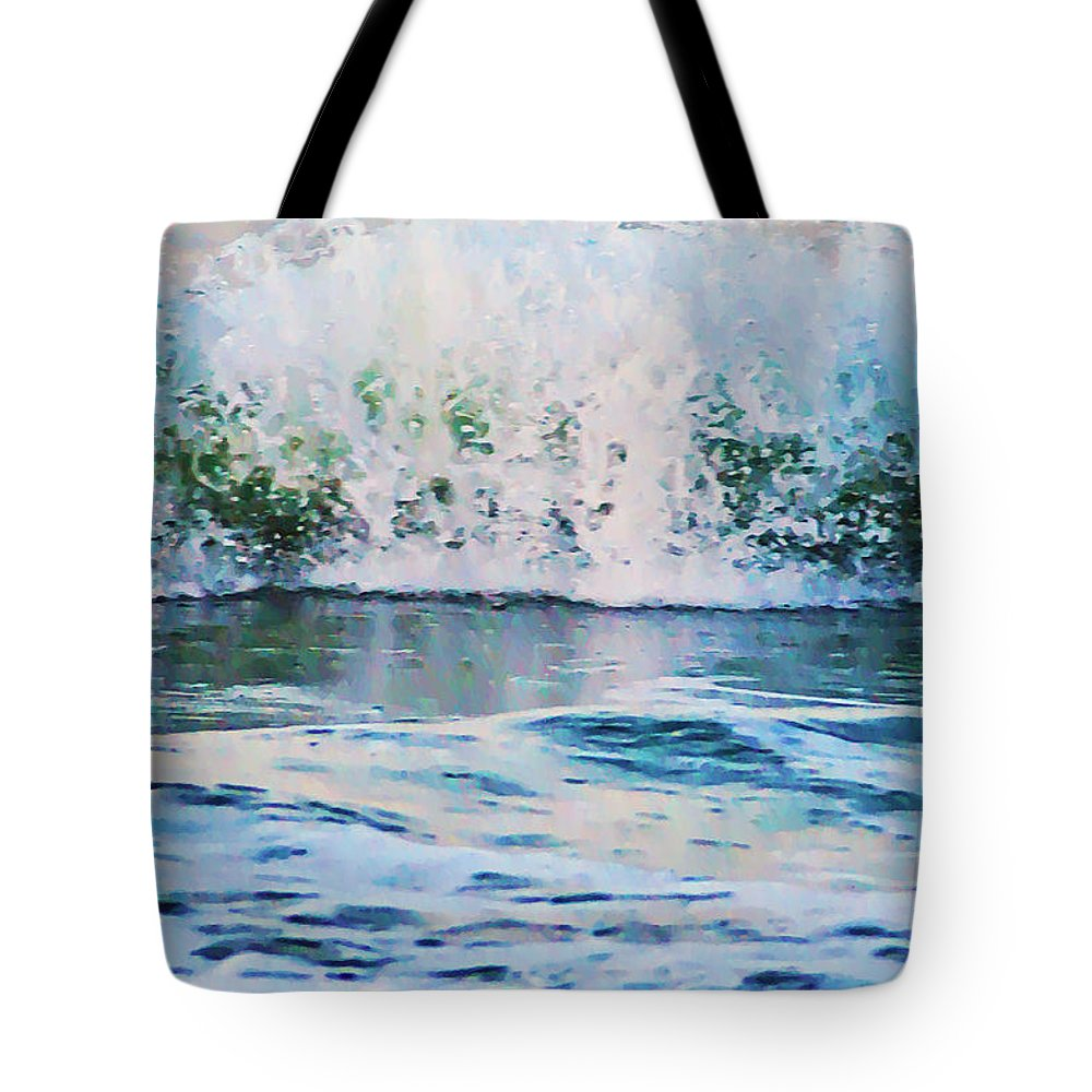 The Wave Tote Bag featuring the photograph The Wave by Bill Cannon