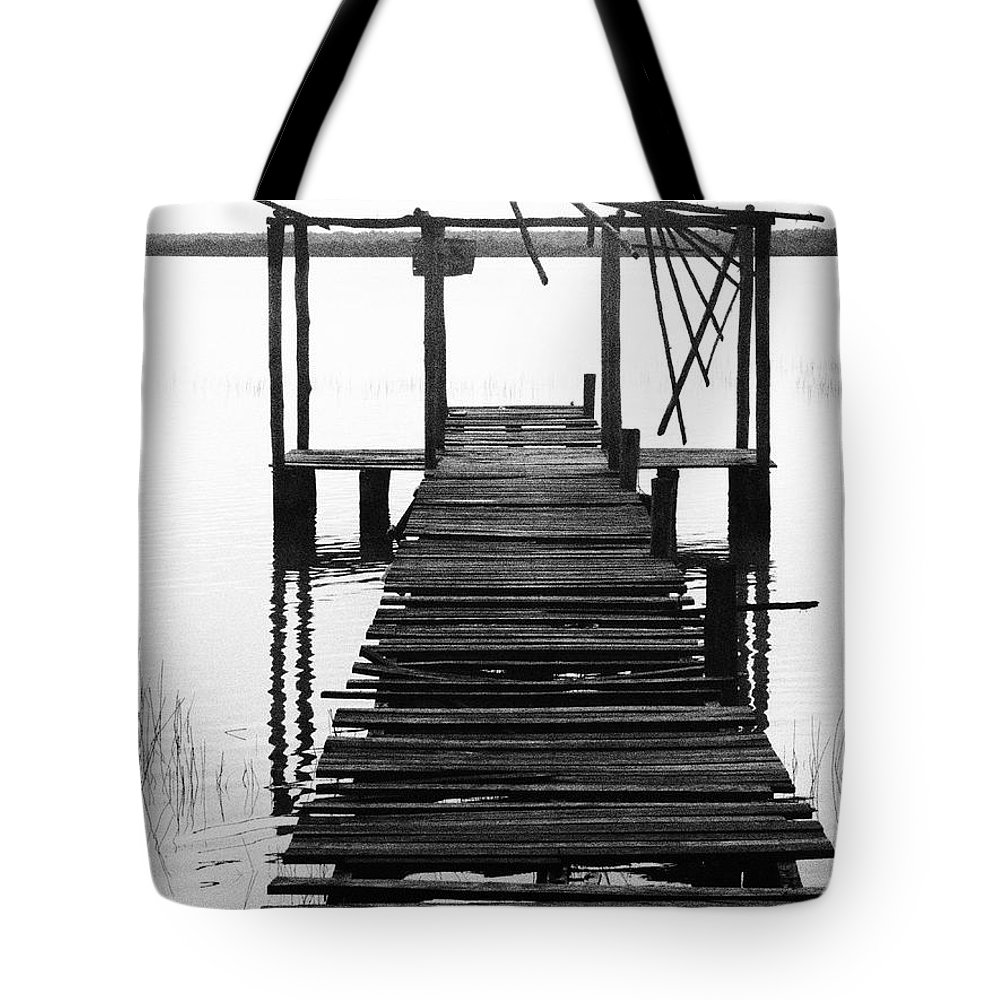 The Way Tote Bag featuring the photograph The Way by Skip Hunt