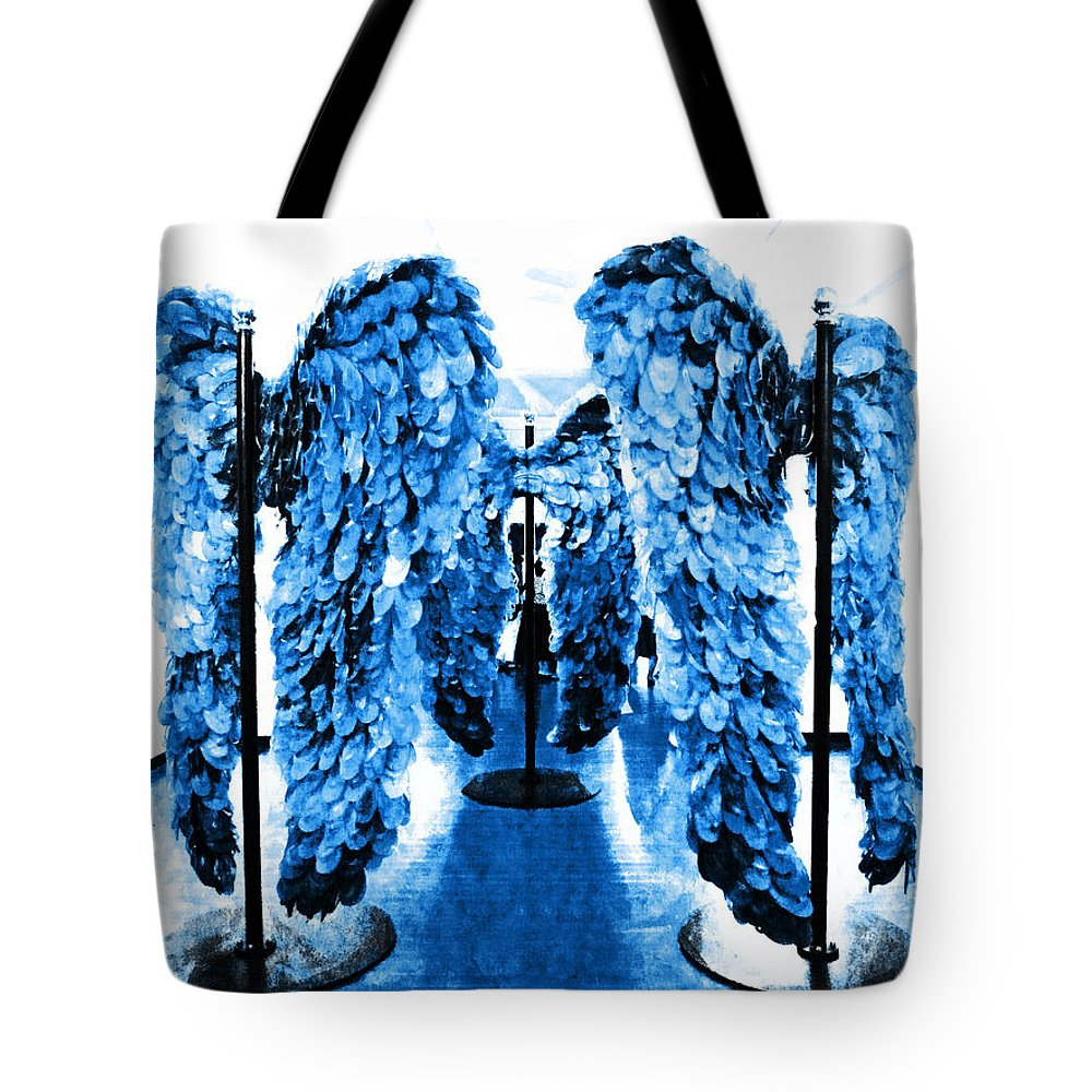 Fallen Angels Tote Bag featuring the photograph The Wings Of Fallen Angels by Steve Taylor