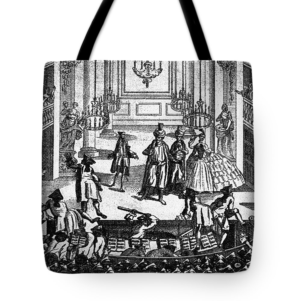1763 Tote Bag featuring the photograph Theater: Covent Garden by Granger