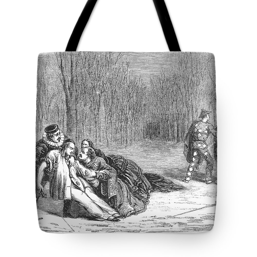 1860 Tote Bag featuring the photograph Theater: Duel, 1860 by Granger