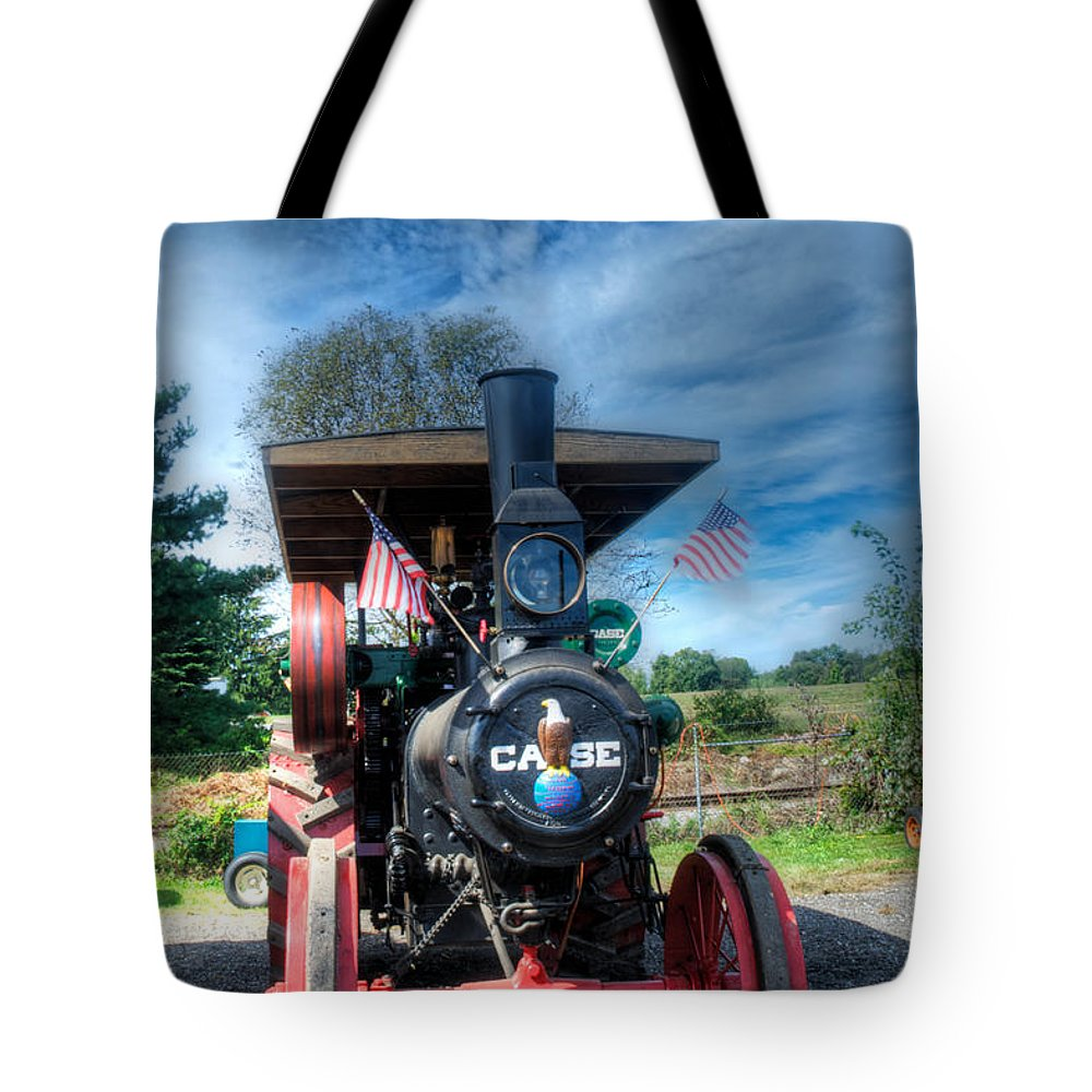Arcadia Volunteer Fire Company Tote Bag featuring the photograph Then End Of The Day For The Case by Mark Dodd