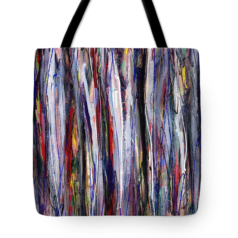 Abstract Tote Bag featuring the painting Thicket In Ice by Lynne Taetzsch