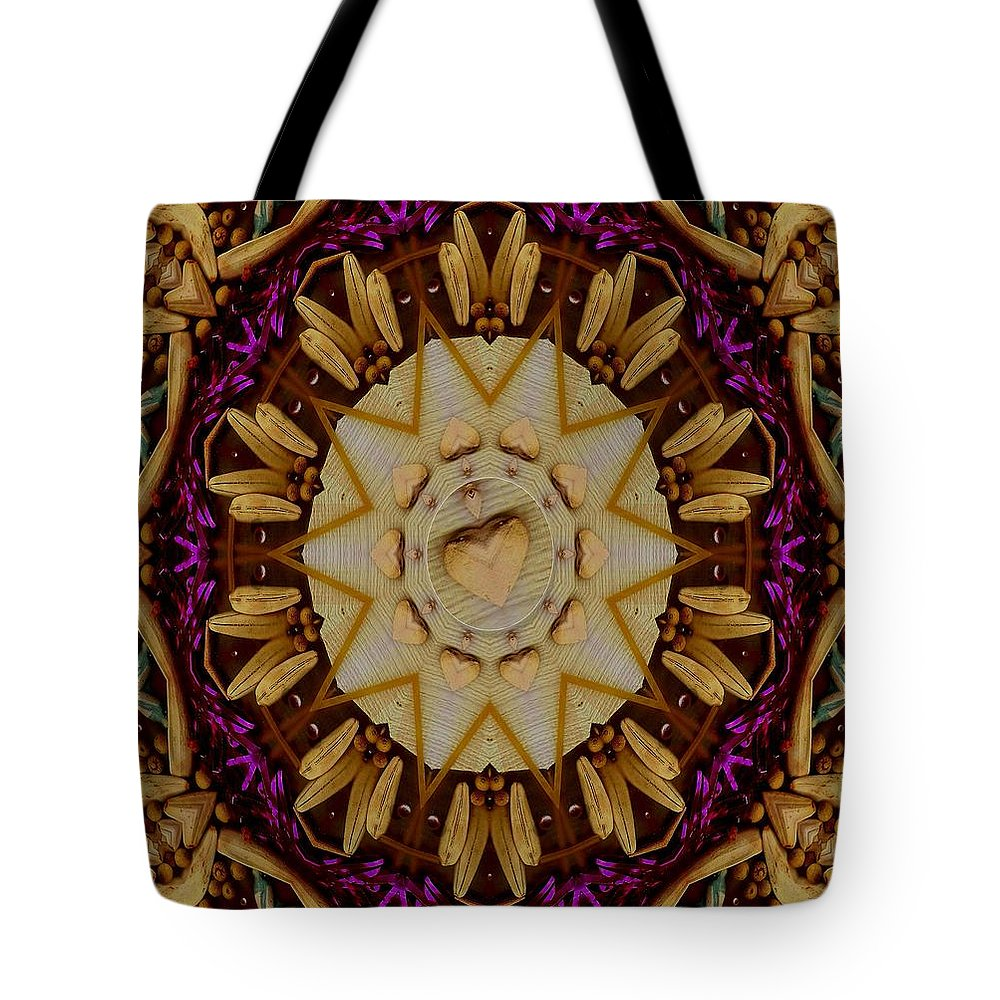Landscape Tote Bag featuring the mixed media This Is Pure Love And Festivitas by Pepita Selles
