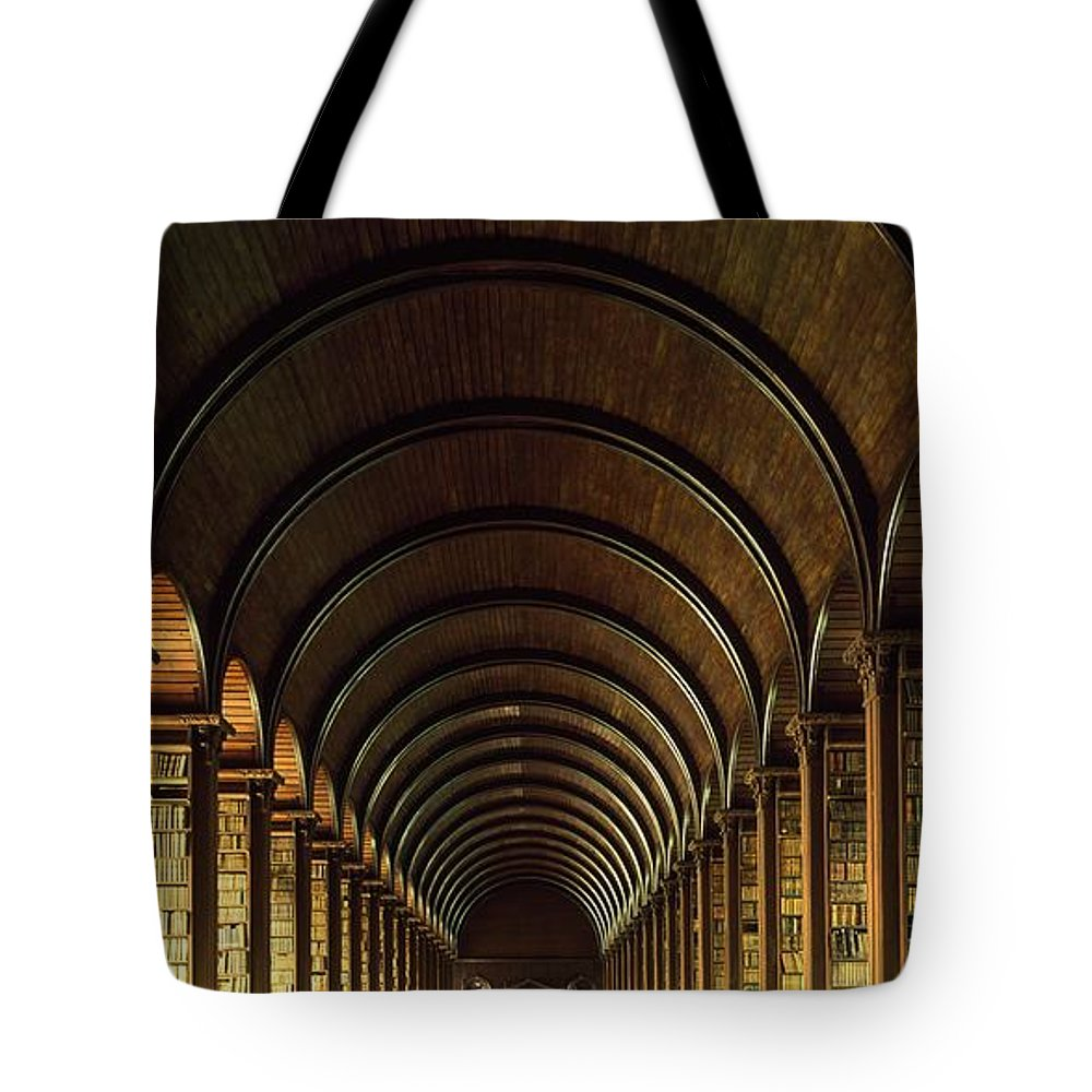 Books Tote Bag featuring the photograph Thomas Burgh Library, Trinity College by The Irish Image Collection