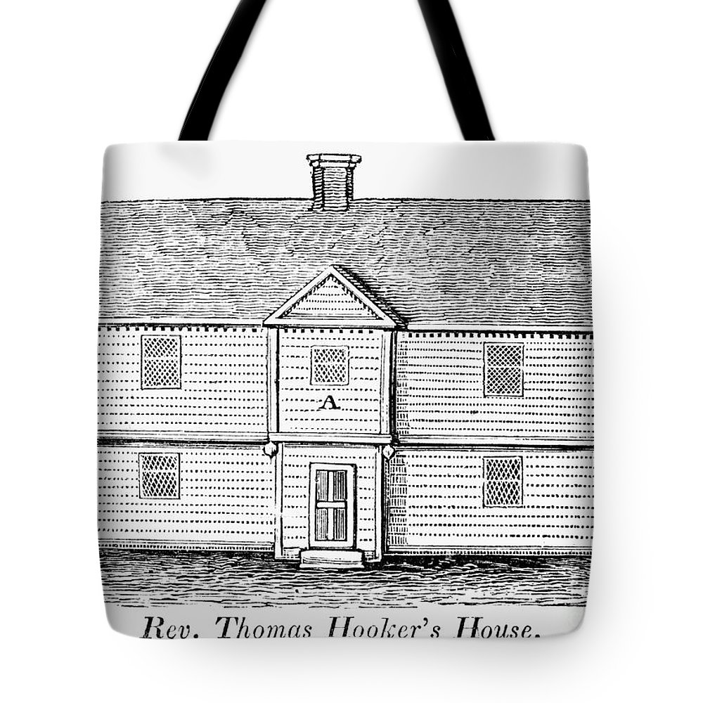17th Century Tote Bag featuring the photograph Thomas Hooker (1586-1647) by Granger