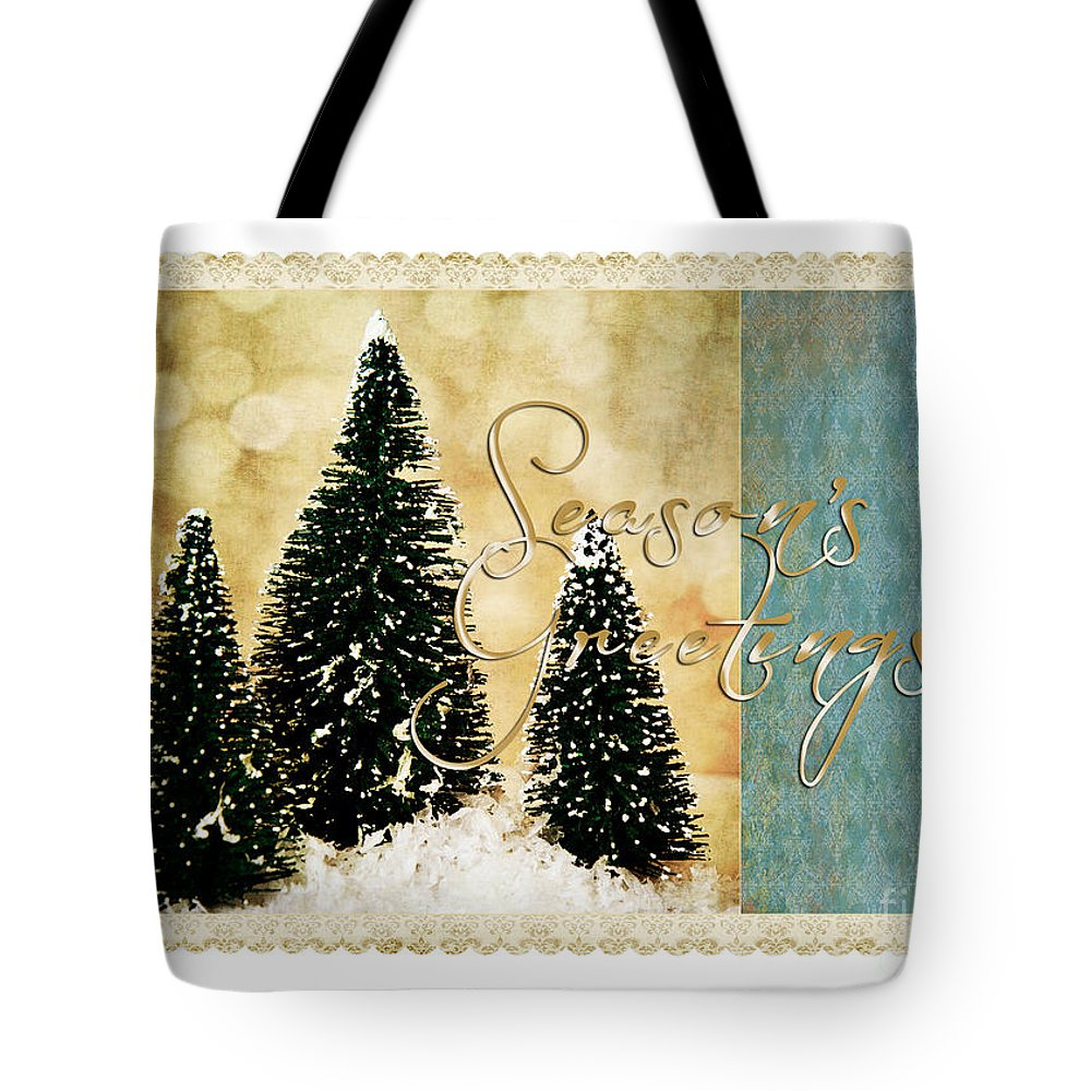 Trees Tote Bag featuring the photograph Three Trees Framed by Pam Holdsworth