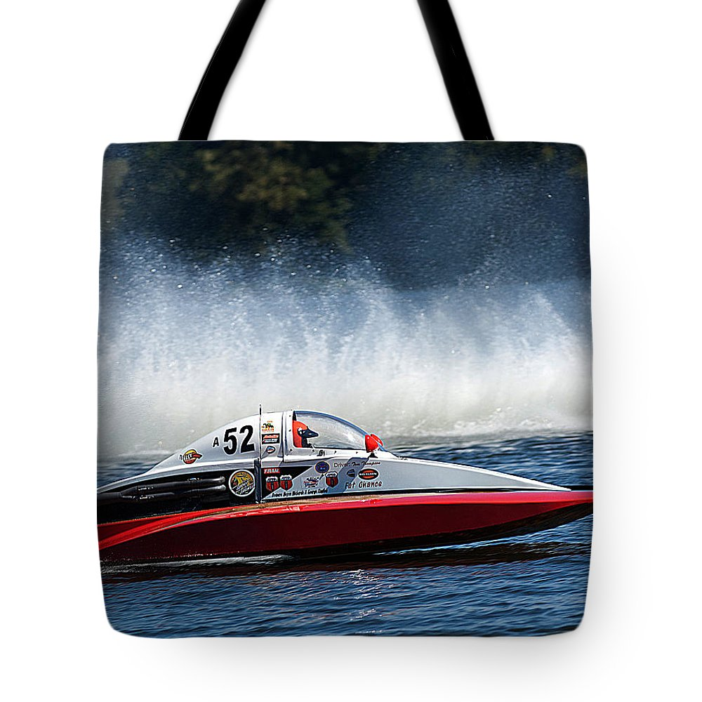 Thunder Tote Bag featuring the photograph Thunder At The Lake by Randall Branham