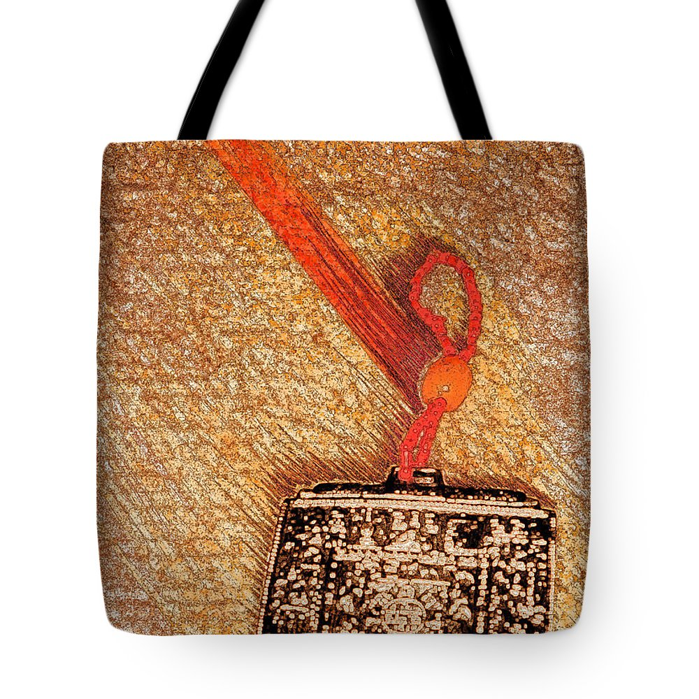 First Star Art Tote Bag featuring the mixed media Tibetan Mandala By Jrr by First Star Art