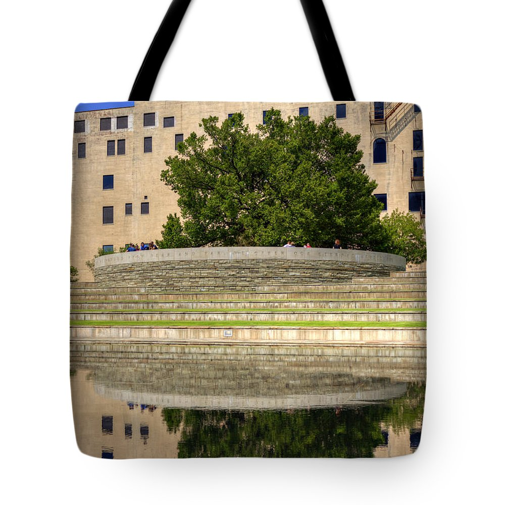 Bombing Tote Bag featuring the photograph Time For Reflection by Ricky Barnard
