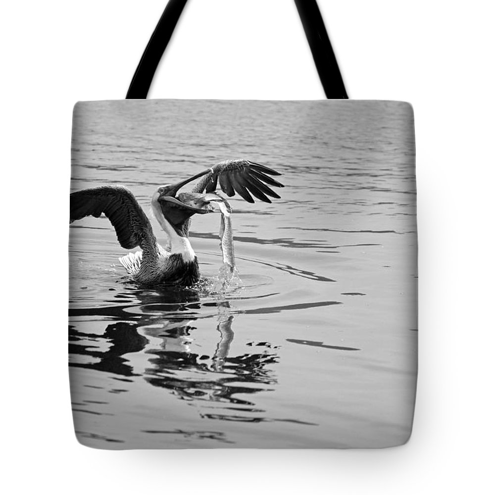 Black And White Tote Bag featuring the photograph Time For Sushi In Black And White by Suzanne Gaff