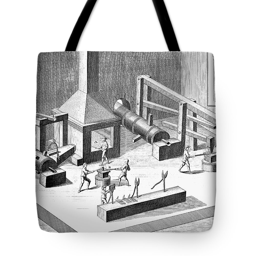18th Century Tote Bag featuring the photograph Tin Plate Manufacture by Granger