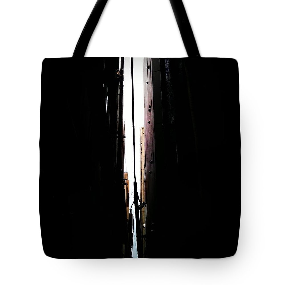 Street Tote Bag featuring the photograph Tiny World by Eena Bo