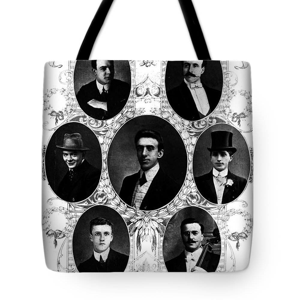 1912 Tote Bag featuring the photograph Titanic: Band, 1912 by Granger