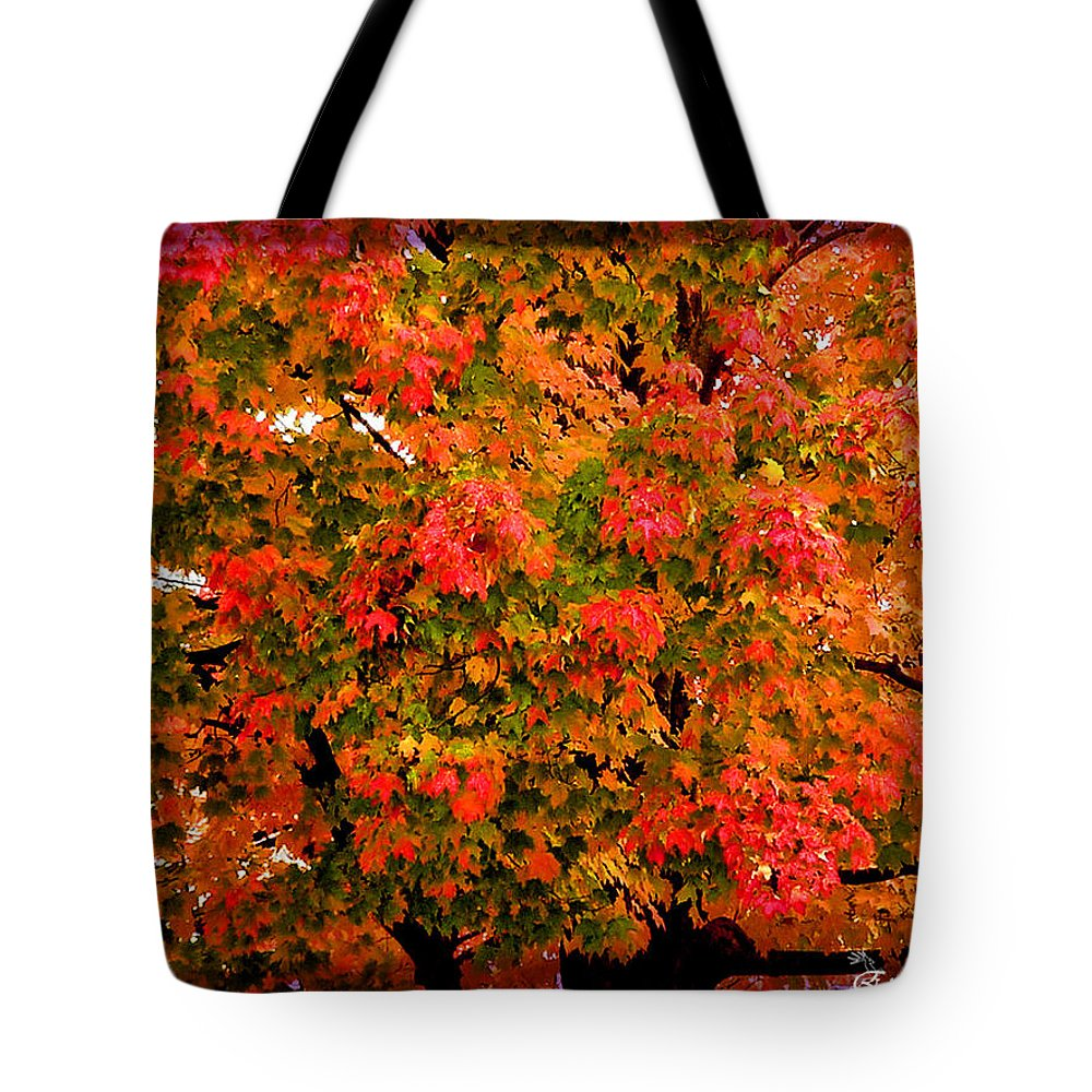 Tree Tote Bag featuring the digital art Tn Fall by Ericamaxine Price