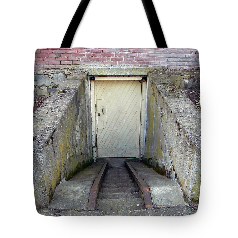 Vintage Tote Bag featuring the photograph To The Cellar by Pamela Patch