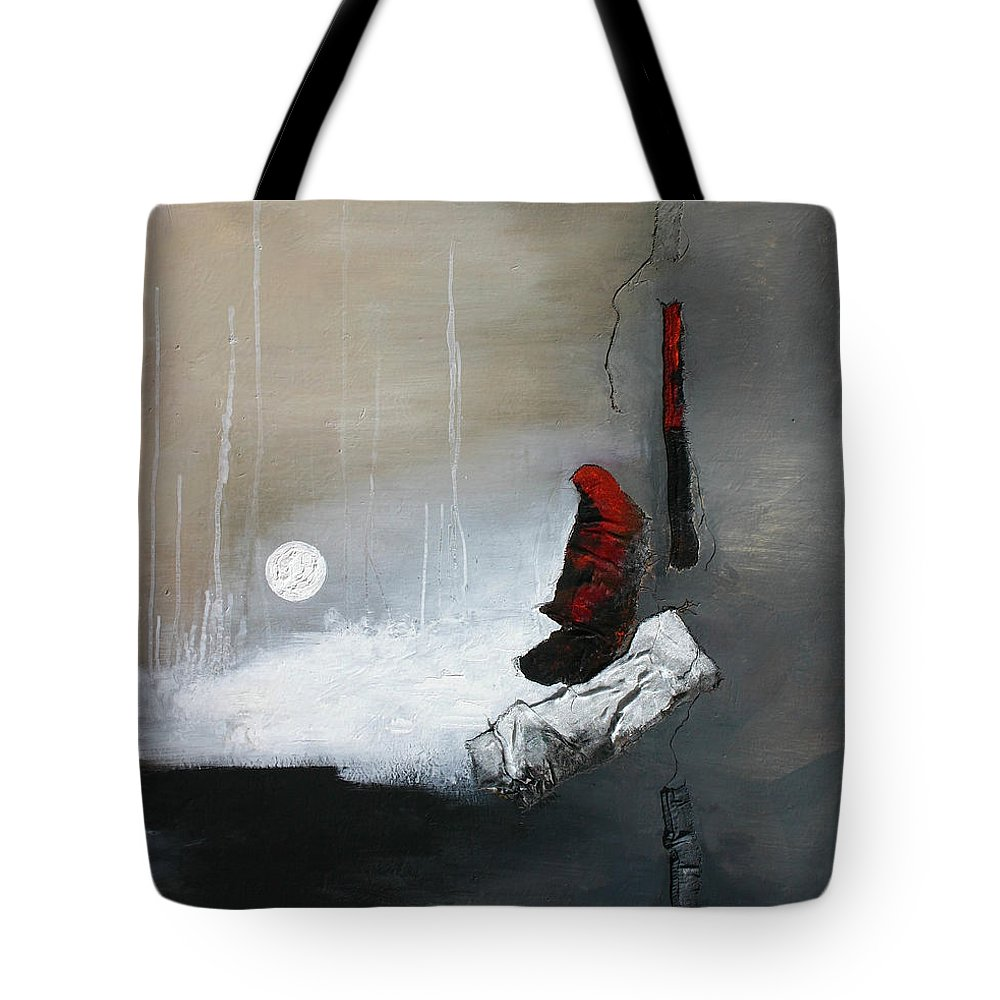 Abstract Art Tote Bag featuring the painting Tokyo Moon by Germaine Fine Art