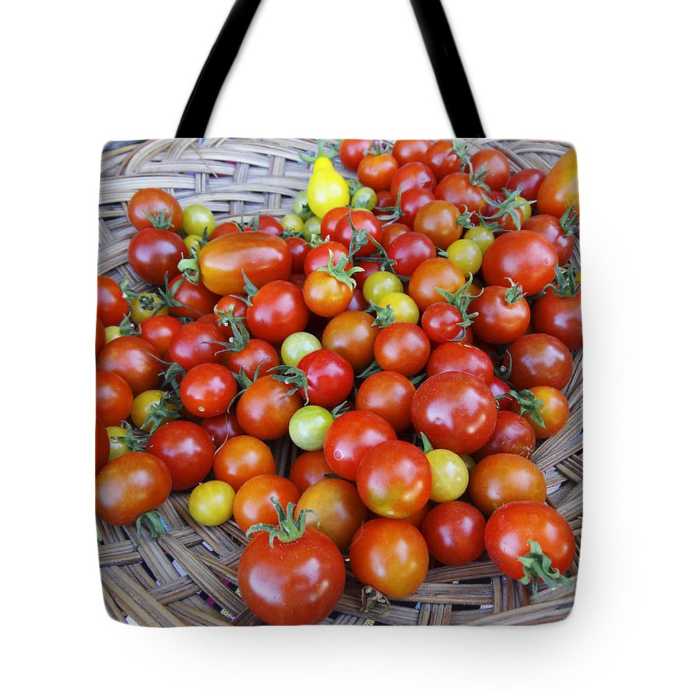 Basket Tote Bag featuring the photograph Tomato Time by Anne Mott