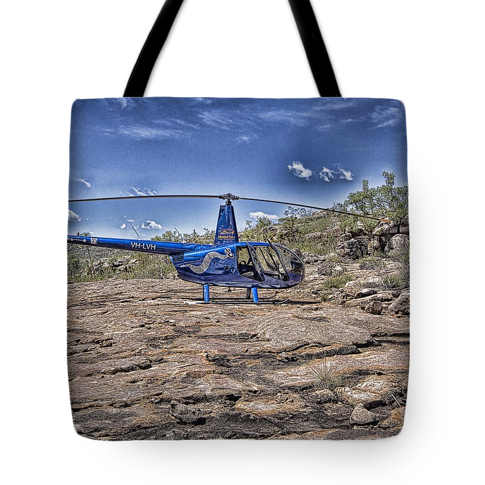 Helicopter Tote Bag featuring the photograph Top of the Gorge by Douglas Barnard