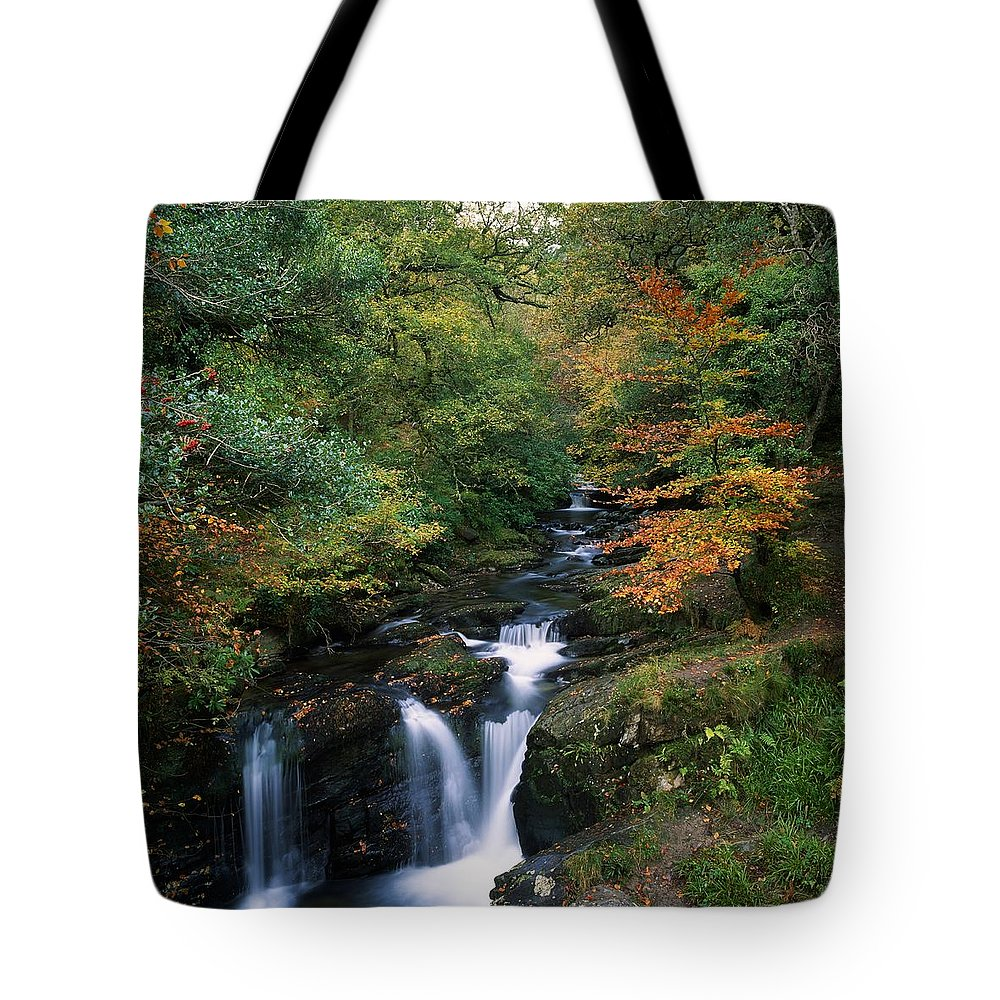 Autumn Leaves Tote Bag featuring the photograph Torc Waterfall, Ireland,co Kerry by The Irish Image Collection