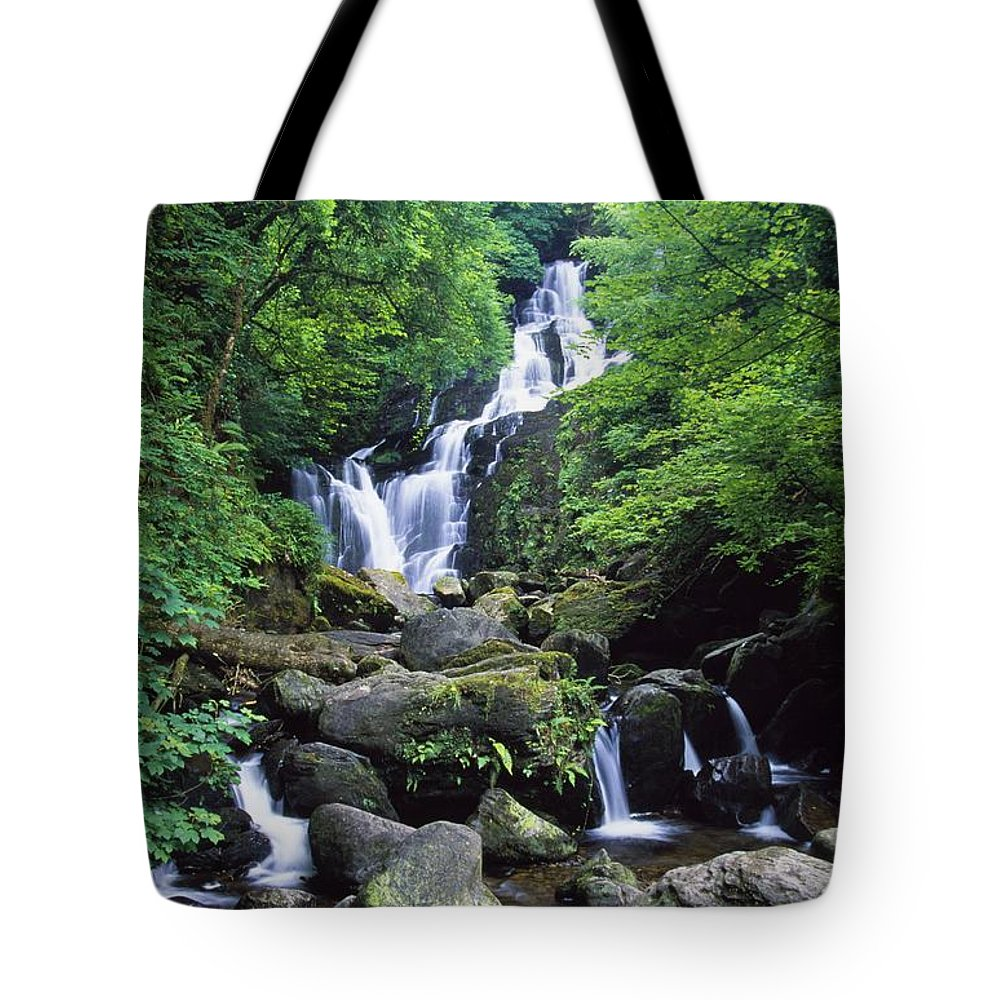 Ireland Tote Bag featuring the photograph Torc Waterfall, Killarney National by Gareth McCormack