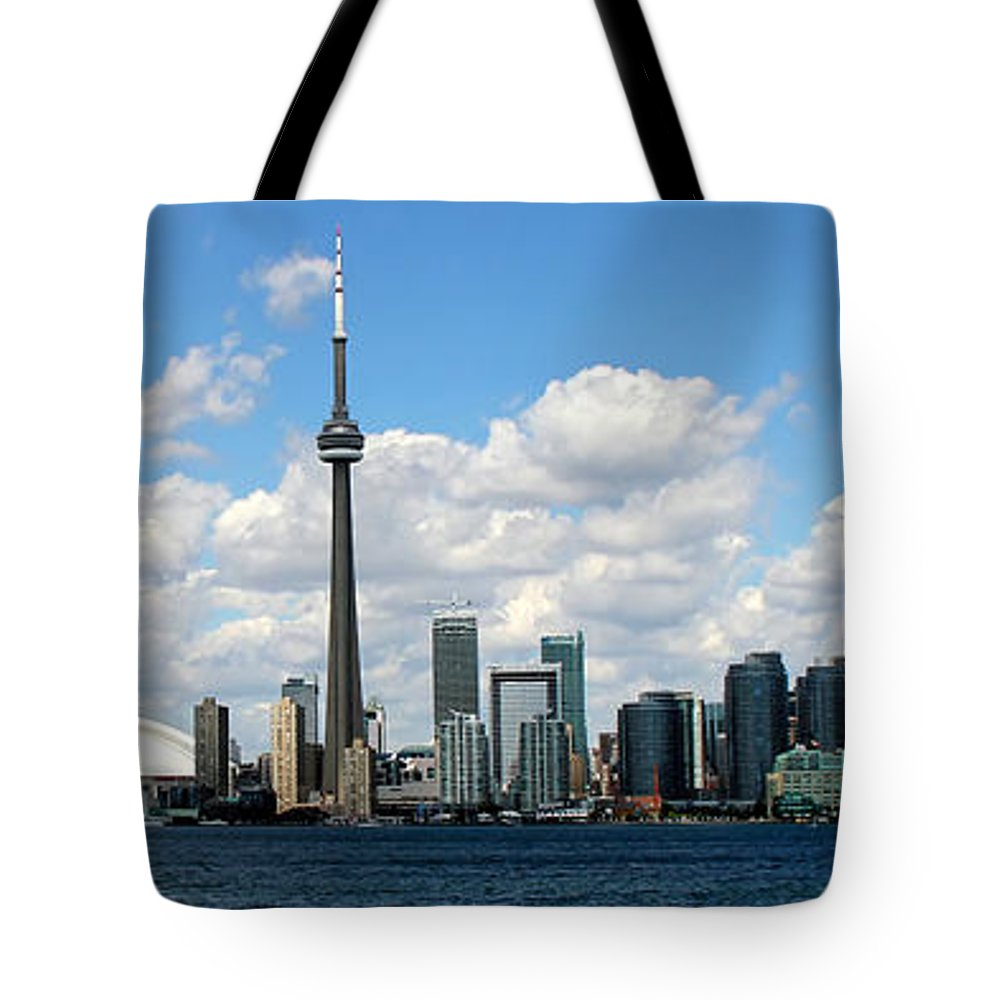 Toronto Skyline Tote Bag featuring the photograph Toronto Skyline 10 by Andrew Fare