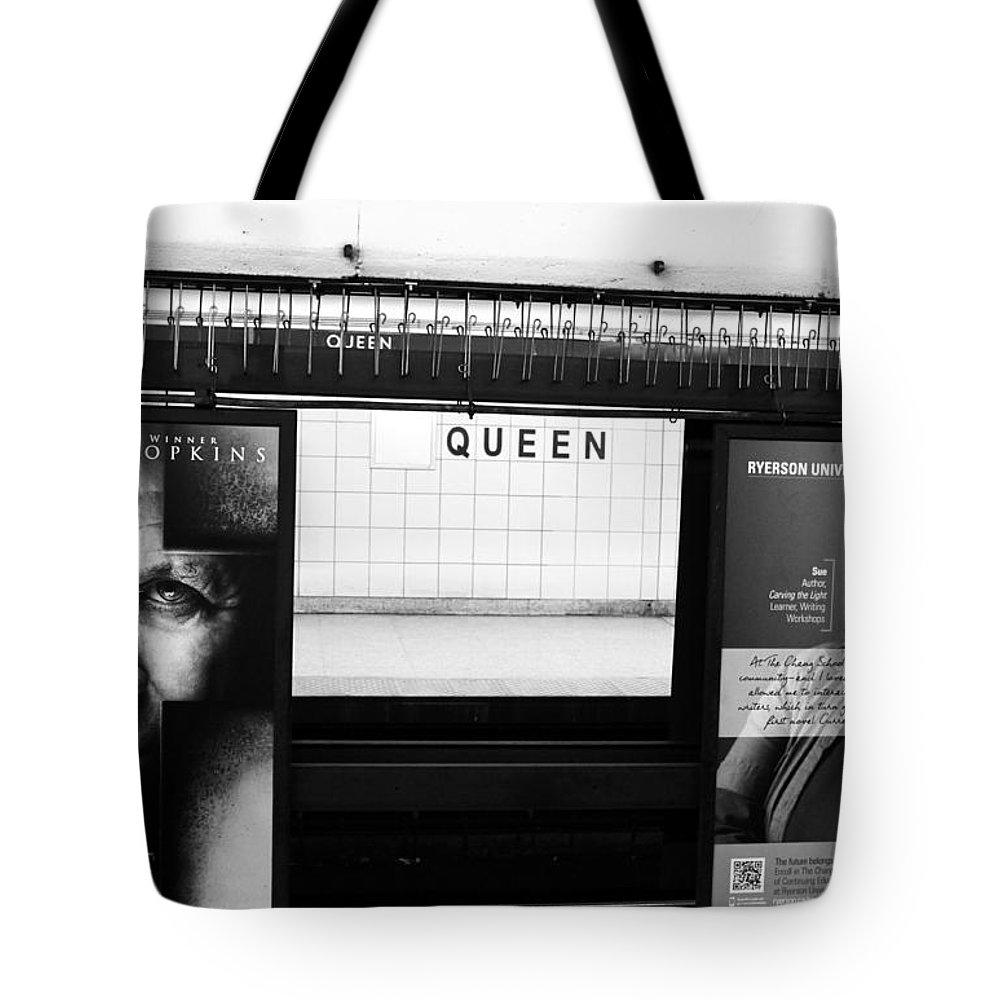 Toronto Tote Bag featuring the photograph Toronto Subway by Valentino Visentini
