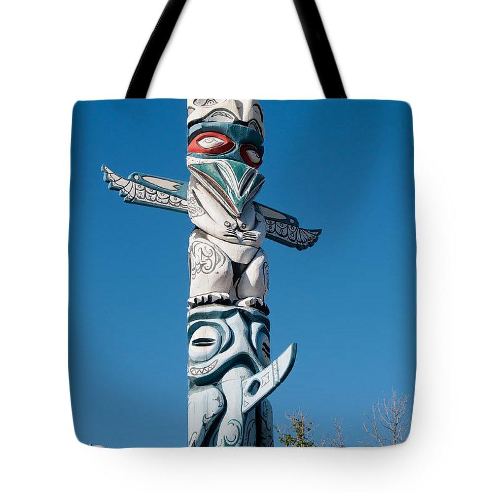 California Tote Bag featuring the digital art Totem by Carol Ailles