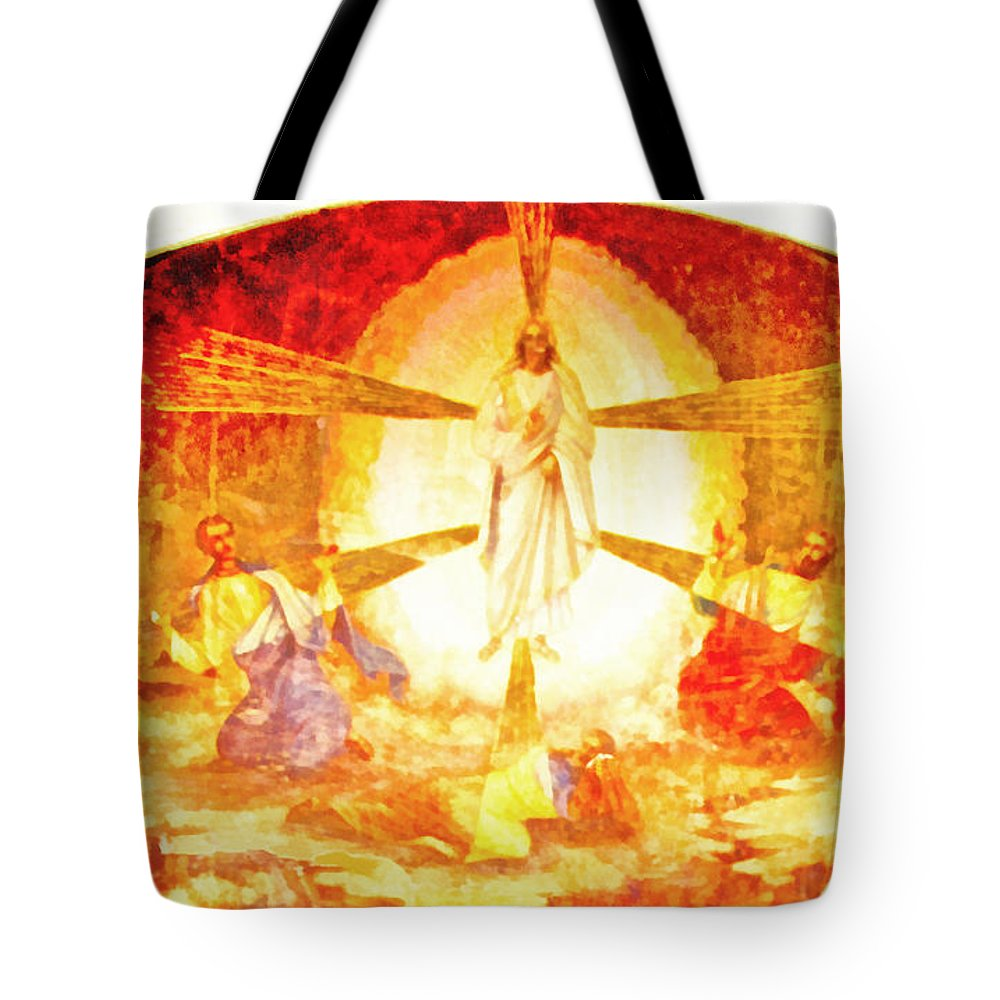 Rossidis Tote Bag featuring the painting Touch Me Not by George Rossidis
