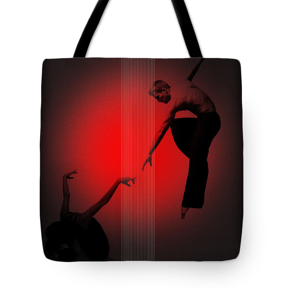 Dancing Tote Bag featuring the digital art Touch by Naxart Studio