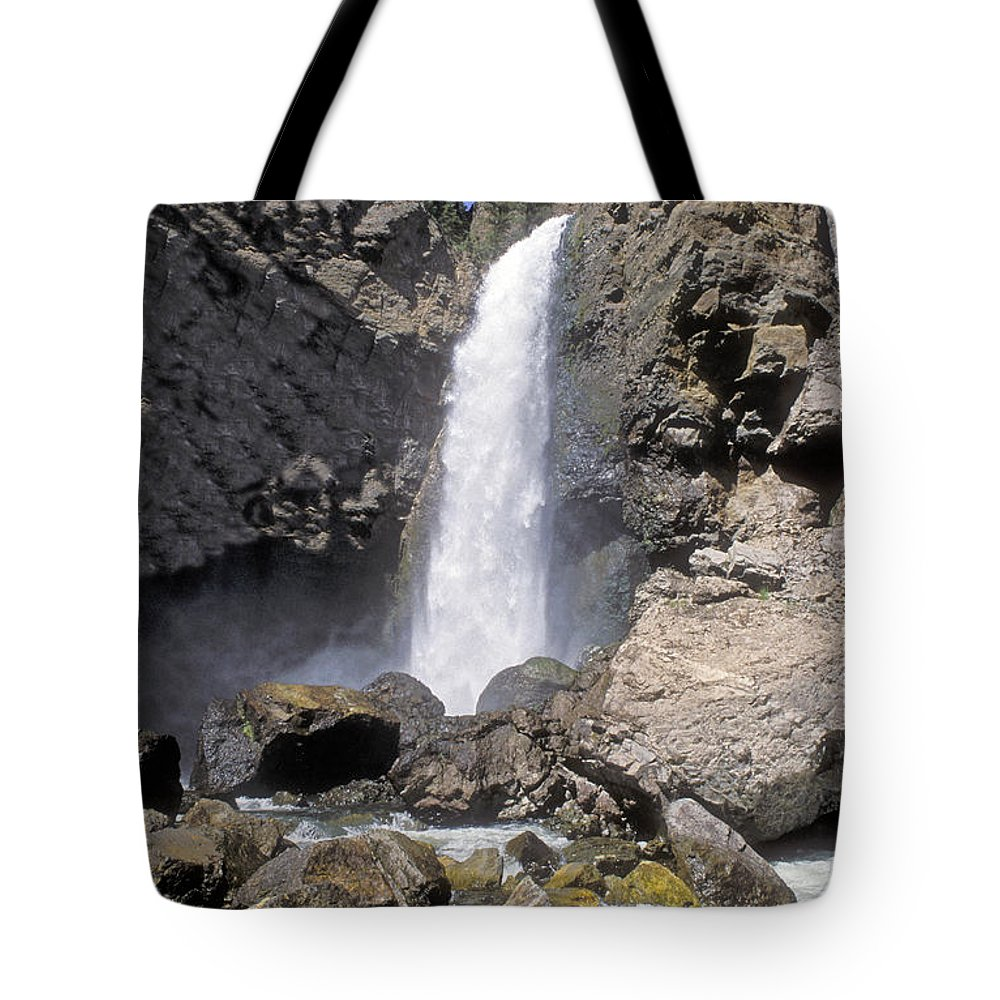 Sandra Bronstein Tote Bag featuring the photograph Tower Fall Of Yellowstone by Sandra Bronstein