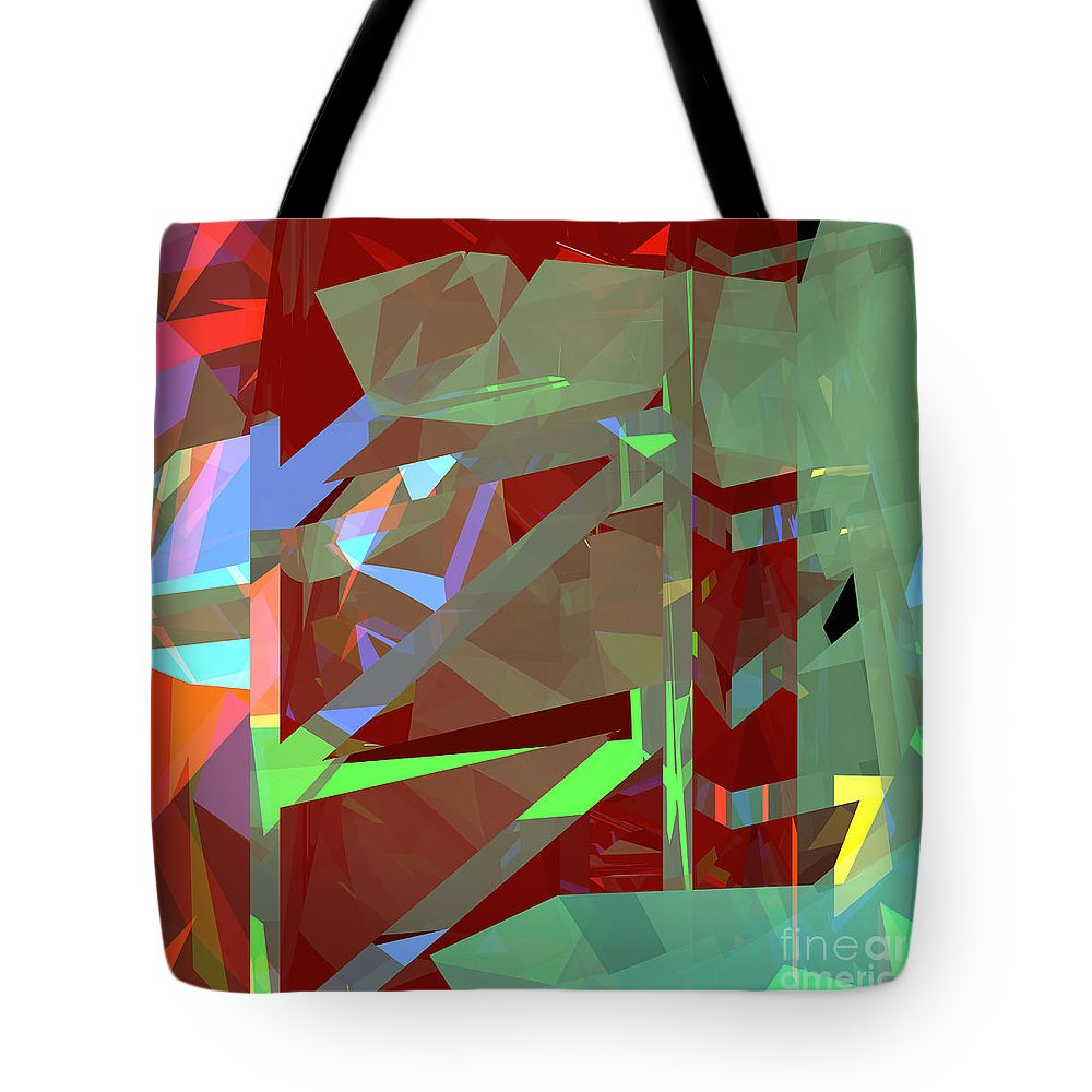 Abstract Tote Bag featuring the digital art Tower Series 23 by Russell Kightley