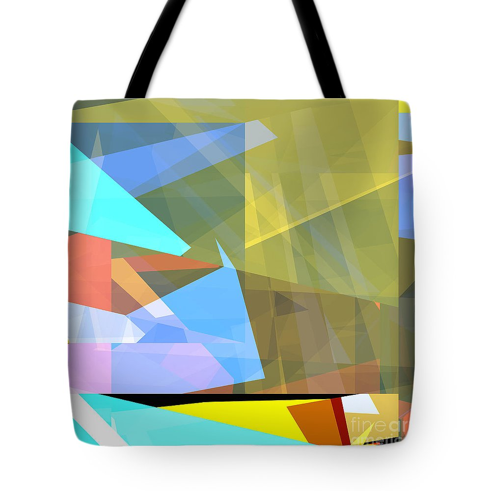 Abstract Tote Bag featuring the digital art Tower Series 37 Australian Summer by Russell Kightley